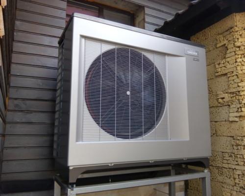 Частный дом отапливаемый тепловым насосом воздух- вода NIBE 2300 20kW